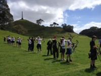 Shooting line at Auckland Archery Club