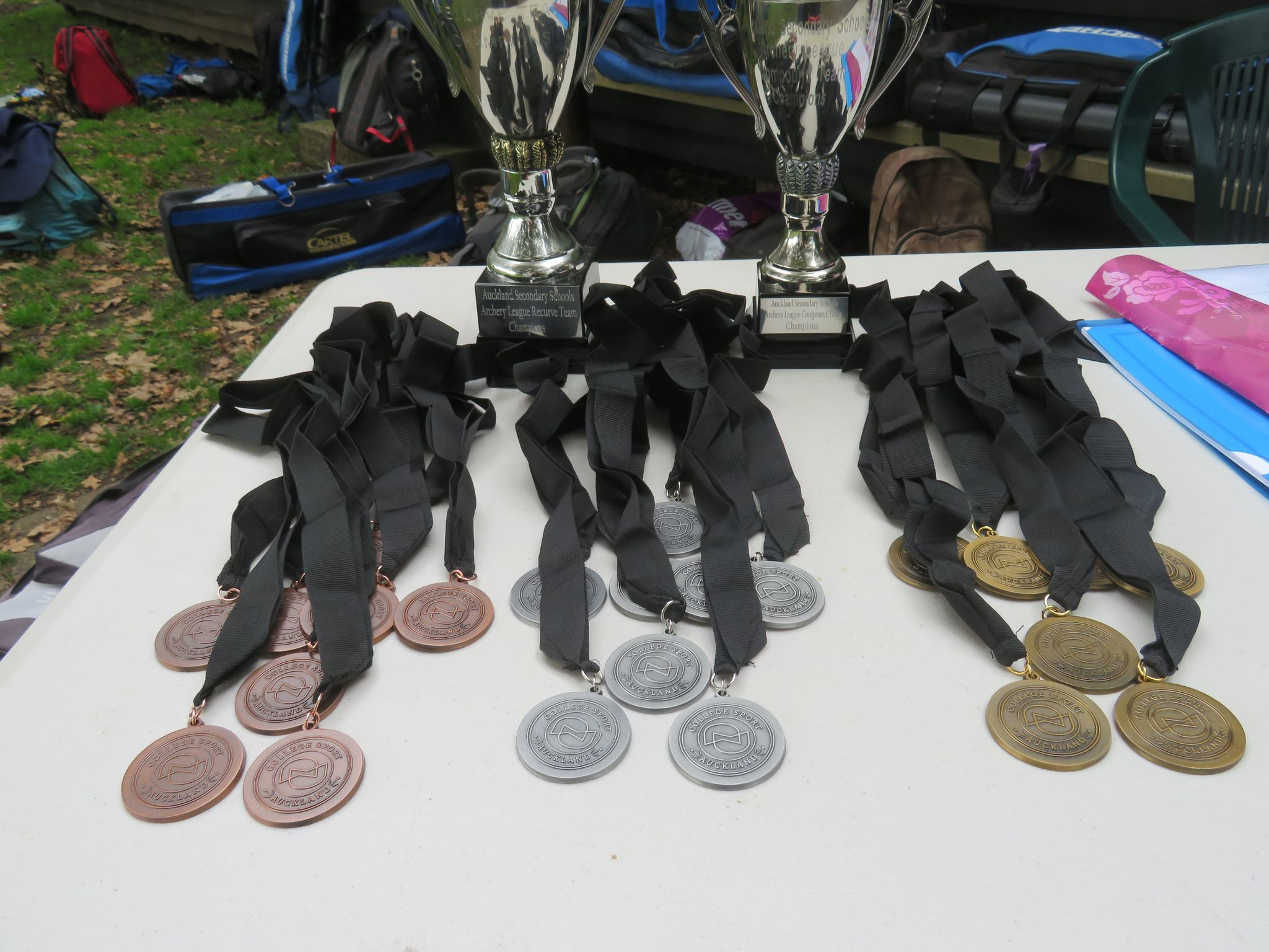 Medals for youth archers